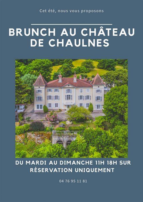 Affiche brunch chateau de Chaulnes